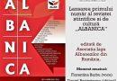 """ALAR lansează revista """"Albanica"""""""