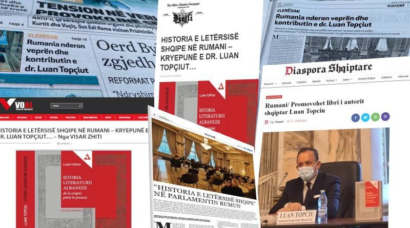 """Ecou impresionant produs de lansarea volumului """"Istoria literaturii albaneze: de la origini până în prezent"""", de Dr. Luan Topciu"""